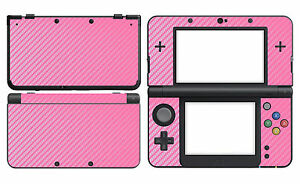Pink Carbon Fiber Vinyl Decal Skin Sticker Cover for Nintendo New 3DS 2015