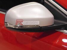 Per Volvo R Design Specchio Vinile Decalcomanie ADESIVI, Custom, V40, V60, C30, XC60, S60, S40