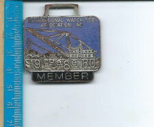 Ab-073 - Page Manufacturing Co, Tractor, 1980 Iwfai Member Vintage Watch Fob