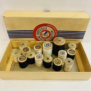 Vintage lot of 15 Belding Corticelli Mercerized Cotton Thread on wood Spools