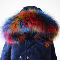 Women Faux Fur Collar For Sweater Coat Down Jacket Hood Winter Scarf Shawl Wrap