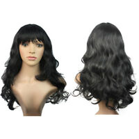 Charming Womens Lady 55cm Long Wig Curly Wavy Fancy Dress Party Cosplay