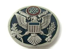 Great Seal United States Belt Buckle Coat of Arms Eagle Pure Pewter Vintage