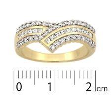 9ct Yellow Gold & Rhodium plated Dress Ring.