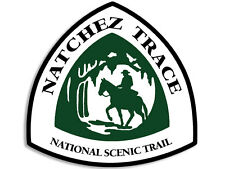 4x4 inch Natchez Trace National Scenic Trail Sign Shaped Sticker -rv hiking hike