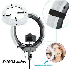 8/10/18 inch Collapsible Photography Video Light Softbox Diffuser For Ring Light