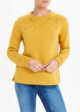 BNWT Falmer Heritage  Embroidered Yellow Ochre Sweater Sweat top Jumper (GG)