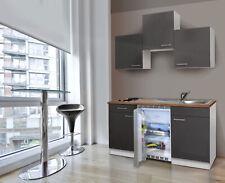Küche Miniküche Singleküche Küchenzeile Küchenblock 150 cm weiß grau respekta