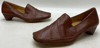 Pikolinos Womens Brown Leather Slip On Block Heel Comfort Shoes Size 38