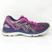 Asics Womens Gel Nimbus 19 T750N Pink Blue Black Running Shoes Lace Up Size 9.5