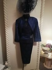 STUNNING MOTHER OF THE BRIDE OUTFIT NAVY size 16
