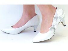 White Wedding Shoes - Bridal - Bridesmaids Mid Heel Shoes  - Size 6 UK - EU 39