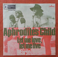 APHRODITE'S CHILD-LET ME LOVE,LET ME LIVE RARE YUGOSLAVIAN 7'' PS 1970 EX/EX
