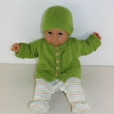 KNITTING INSTRUCTIONS-BABY ONEPIECE CARDIGAN & BEANIE HAT KNITTING PATTERN