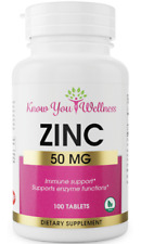 ZINC 50mg Tablets 100ct BOOST IMMUNE SYSTEM  Prevent Colds & Viruses Now