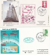 1990 - Launch ARIANE V36 - 2  space covers from Kourou