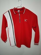 Vintage Tommy Hilfiger Mens XL 1/4 Zip Ribbed Shirt Color Block Red USA Made