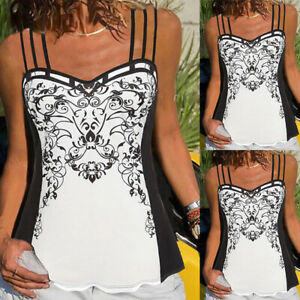 Womens Summer Sexy Vest Tops Blouse Ladies Holiday Party Cami Tank Top T Shirts