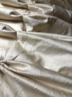 "Beautiful Rich Cream Silk Curtains - Interlined 52"" drop x 35"" fixed pleated top"