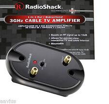 Radioshack 3GHz RF/UHF/VHF/FM/TV Antenna Bidirectional Signal Booster Amplifier