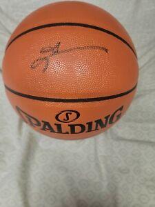 Allen Iverson Autographed Spalding Basketball - JSA COA
