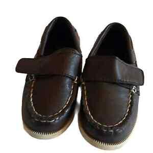 SMARTFIT Boy's Toddler Brown Boat Shoe Size 8
