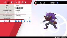 Pokemon Zoroark  shiny 6IV + masterball - Battle Ready - Epée/Bouclier