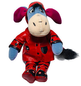 Authentic Disney Store Eeyore From Winnie The Pooh Plush Lady Bug Raincoat/Boots