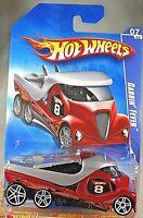 2009 Hot Wheels #73 HW Racing 7/10 CABBIN' FEVER Red Variant w/White Pr5 Spoke