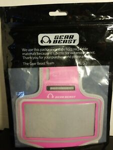 Gesr Beast Pink/grey Arm Band For Smartphone