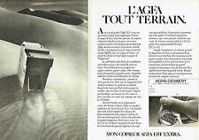 PUBLICITE ADVERTISING 027  1982  le  copieur  Agfa Gevaert  X22  ( 2 pages)