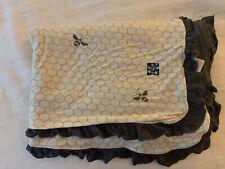 New listing Kickee Pants Ruffle Toddler Blanket In Natural Honeycomb, Play