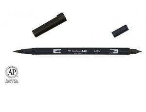 Tombow ABT Dual Brush Pen - blacks, greys and blender