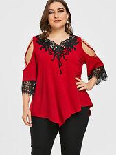 035c61d5856 Blusas Rojas Tops De Mujer De Moda Tallas Grandes Elegantes Plus Size de  Encaje