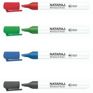 Nataraj Whiteboard Marker Pens 2mm Chisel Tip Good Quality Assorted Dry Wipe