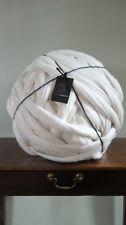 8kg 100% Cream Merino Wool Big Chunky Loop Extreme Arm Knitting Dyeing 19.5MU