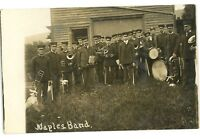 RPPC Naples Band NAPLES NY Finger Lakes Ontario County Real Photo Postcard