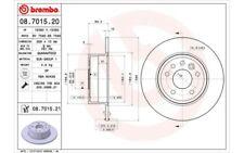 2x BREMBO Discos de Freno Traseros Pleno 286mm Para SAAB 9-5 08.7015.21