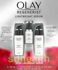 (3 pk) Olay Regenerist Lightweight Serum Fragrance Free Visibly Smooth Wrinkles