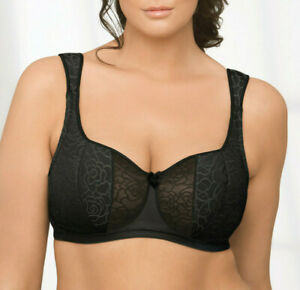 Brand Name DEMI Bra $42 UNDERWIRE (Foam Padded Cup) WIDE-STRAPS Black NEW SEALED