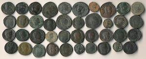 ++NICE++ 40 ANCIENT ROMAN COPPER COINS (VERY ATTRACTIVE BIG LOT !!!) NO RESERVE