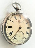 Large silver pocket watch c1896
