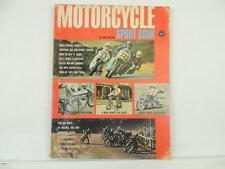 Vintage 1967 MOTORCYCLE SPORT BOOK Triumph Honda Cimatti Harley Gilera L5261
