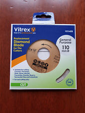 Vitrex Replacement Diamond Blade For Tile Cutters General Purpose 110mm 103409