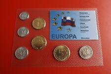 * Slovenia KMS IN BLISTER 7 monete * 10 stotinov - 10 KORUN (alb-p5)