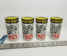 Vintage KENTUCKY DERBY DRINKING GLASSES SET OF 4 1975 EDITION New NOS