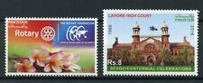 Pakistan 2016 MNH Rotary Foundation & Lahore High Court 2v Set Stamps