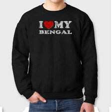 I HEART MY BENGAL Cat Love Pets T-shirt Show Breed Crew Neck Sweatshirt