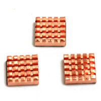 FOR Raspberry Pi Copper Cooling Heat Sinks 3 Pack K6B7