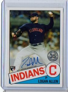 2020 Topps Series 1 - Logan Allen - 1985 On Card Rookie Auto INDIANS RC